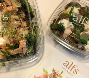 Super-natural supersalads from Alfs – a super-smug lunch.