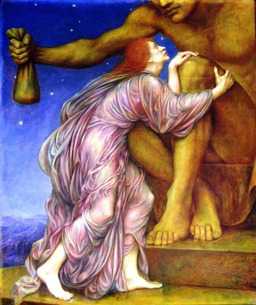 Evelyn De Morgan's 1909 painting The Worship of Mammon