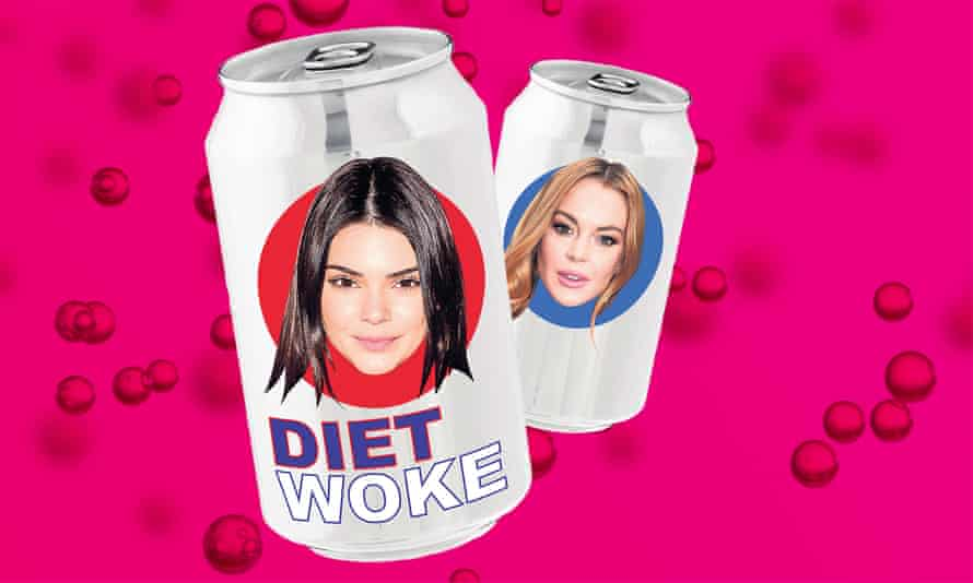 Sparkling … Jenner and Lohan on the fizzy-pop frontline