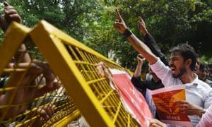 Indian activists protest over the alleged sexual assault of girls