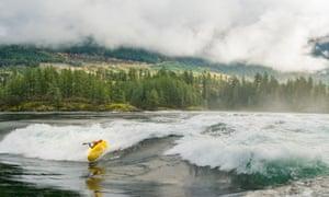 White-Water Kayaking In Skookumchuck Rapids
