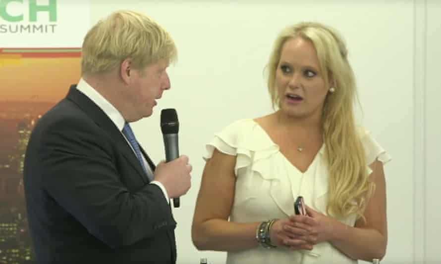 Boris Johnson, with Jennifer Arcuri