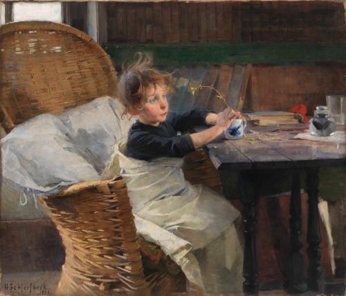 Helene Schjerfbeck's The Convalescent, 1888.