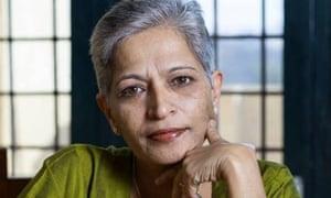 Journalist Gauri Lankesh was killed in India in 2017.