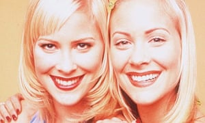 Sweet Valley High girls ... Brittany and Cynthia Daniel in the TV adaptation.