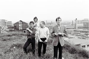 Gang of Four, with Gill, right.