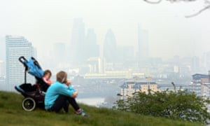 Pollution seen hanging over London