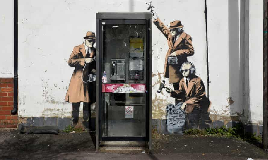 Banksy's Spy Booth mural