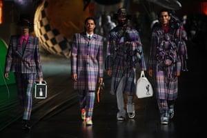 Tokyo, Japan. Models at the Louis Vuitton men's spring/summer 2021 show