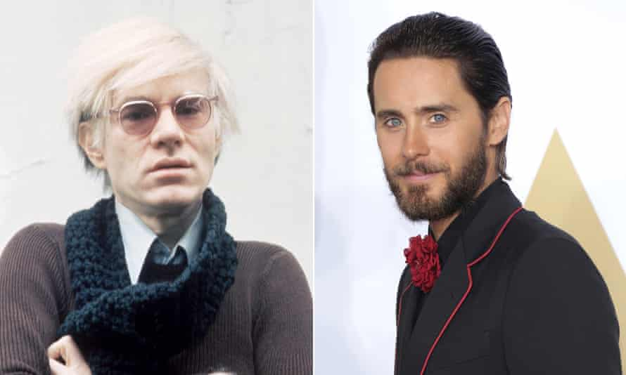 Andy Warhol and Jared Leto who is set to play the artist in a new biopic.