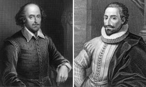 Composite: William Shakespeare and Miguel de Cervantes