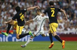 Cristiano Ronaldo fires in the second.