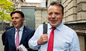 Arron Banks (right), with Andy Wigmore, who said he wanted to influence the choice of Tory leader.