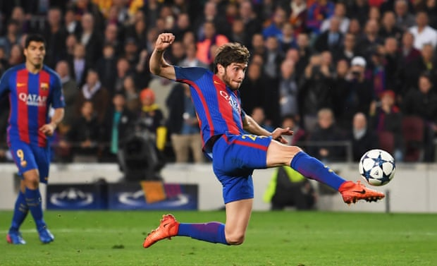 Sergi Roberto scoring the winner against PSG