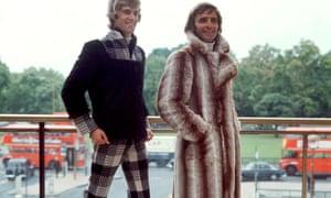 Men modelling outdoor wear, 1970.