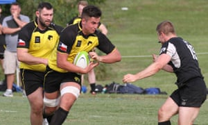 The Houston Sabercats attack, in a preseason runout against the Dallas Reds.