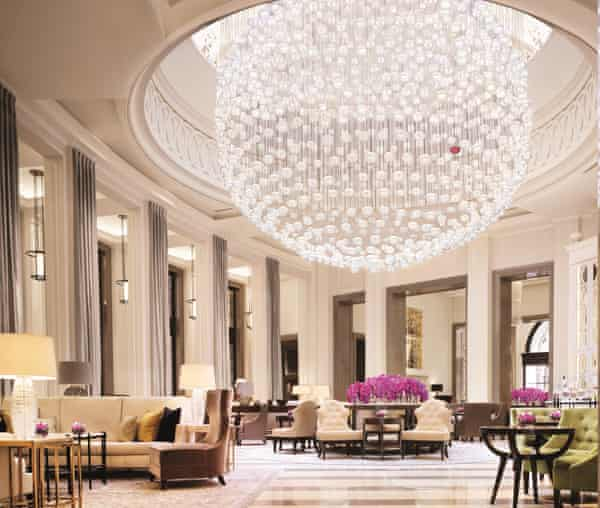 The Lobby Lounge inside London's Corinthia Hotel.