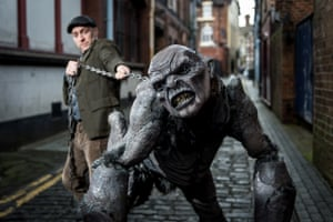 Unleashing demons … Derren Brown in the streets of Wolverhampton.