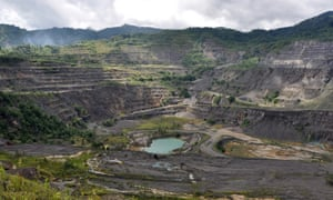 Bougainville has a fraught relationship with mining. Disputes over the Panguna mine (pictured) were the catalyst for the decade-long civil war that devastated the region.