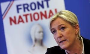 Marine Le Pen … 'Depressing, conspiratorialist discourse.'