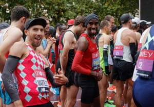 Sir Mo Farah was a pace runner in the subsequent men's race.