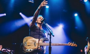Sting on stage at the Bataclan rock venue in its first gig after the terror attacks last year.