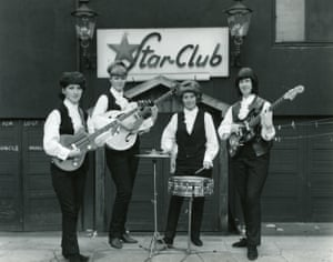 Valerie Gell, far right, with the Liverbirds outside the Star-Club, Hamburg, in 1963.