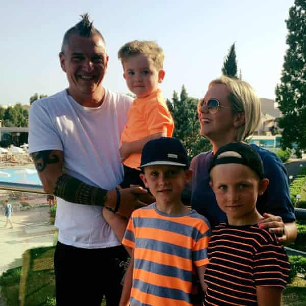 Emma Knewstub with her husband, Steve, and their three children.