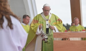 Pope Francis leads the Holy Mass