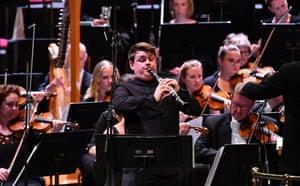 Mark Simpson, the soloist in Magnus Lindberg's Clarinet Concerto.