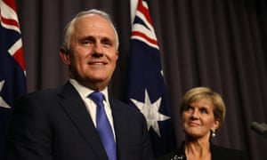 Prime Minister designate Malcolm Turnbull and his deputy designate Julie Bishop after last nights' Liberal leadership spill.