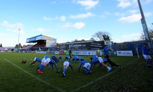 Macclesfield players before their FA Cup defeat by non-league Kingstonian.
