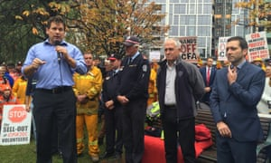 Malcolm Turnbull at Country Fire Authority rally in Melbourne