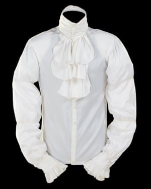 A white ruffled shirt worn by Prince in Purple Rain has sold at auction for 32 times its asking price.