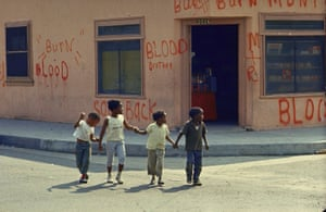 Children in the Watts neighbourhood of Los Angeles, 1966.