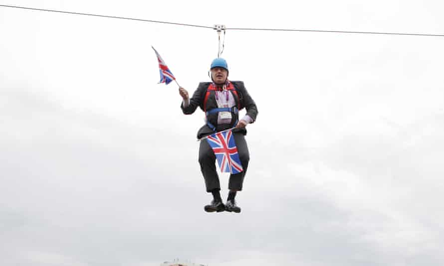 Like a damp towel on a line': the day Boris Johnson got stuck on a zip wire  | Olympic Games 2012 | The Guardian