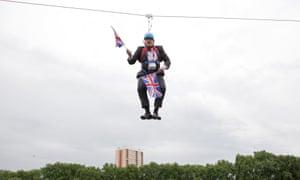 Boris Johnson stuck on zip line in 2012