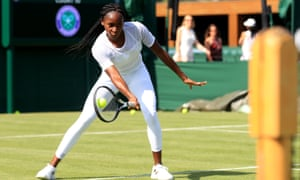 Cori Gauff during a preview day at Wimbledon.
