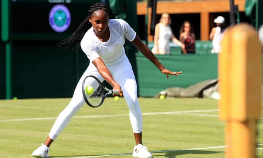 Cori Gauff during a preview day at Wimbledon.