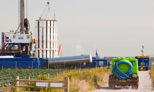 A test drilling site for shale gas on the outskirts of Southport, Lancashire.