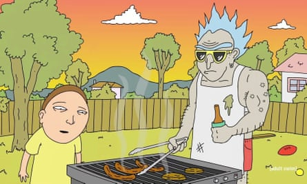 'Mordi' and 'Reek' in the Australian-themed Rick and Morty parody short, which featured the Victorian city of Bendigo and aired on Adult Swim