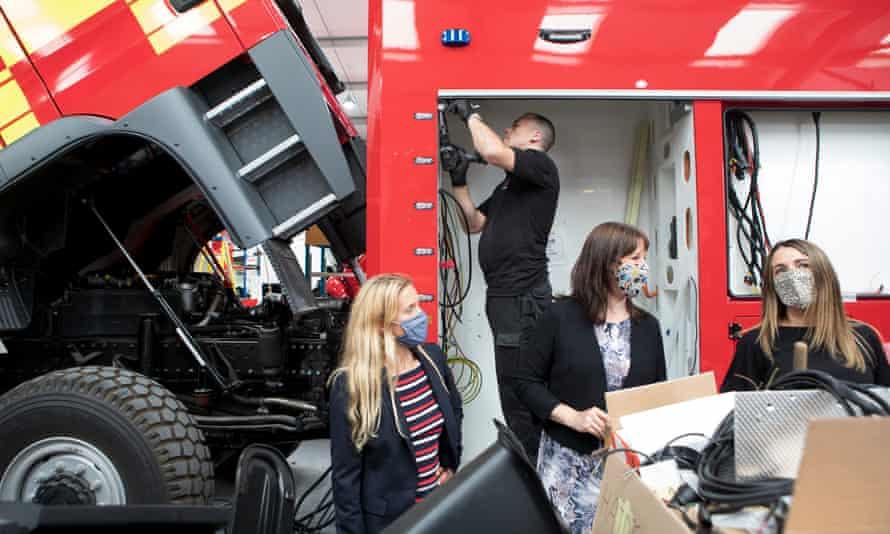 Shadow chancellor Rachel Reeves with now Labour MP Kim Leadbeater at the Angloco machining manufacturer in Batley in June 2021.