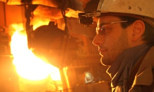 A steel worker in Germany