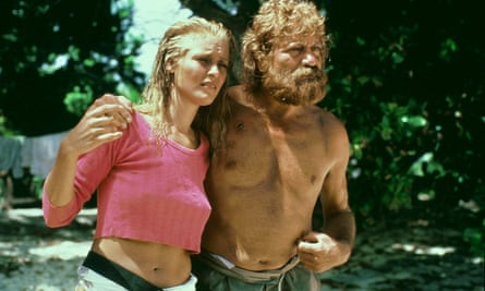 Amanda Donohoe and Oliver Reed in Nicolas Roeg's Castaway, 1986.