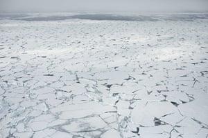 The ice edge of Fram strait.