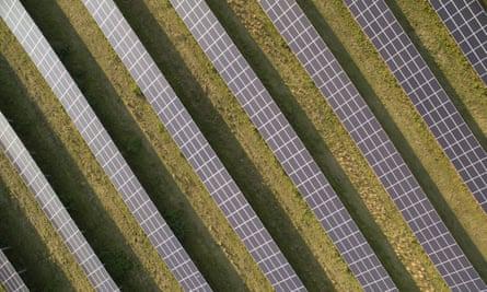 Solar energy panels in Germany