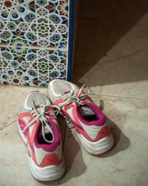 Hassnaa Daaif's training shoes.