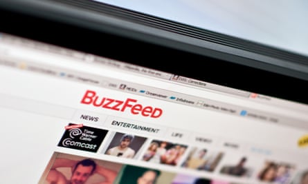 The logo of news website BuzzFeed