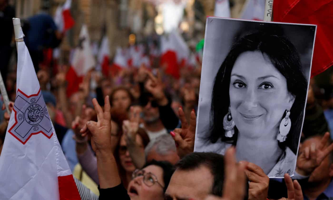 Three formally charged in Malta for murder of Daphne Caruana Galizia