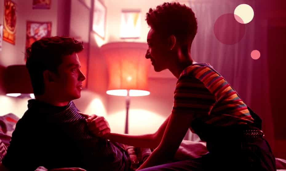Asa Butterfield and Patricia Allison in Sex Education.